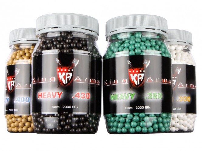 King Arms Heavy .360g BB 2000st BBs