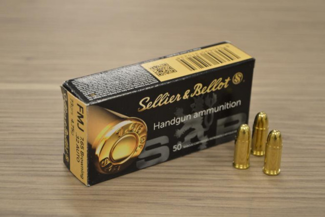 Sellier & Bellot 7,65 Browning .32 Auto FMJ 73gr